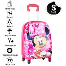 Детский чемодан пластиковый  Мини Маус