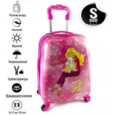 Чемодан детский пластиковый  Barbie